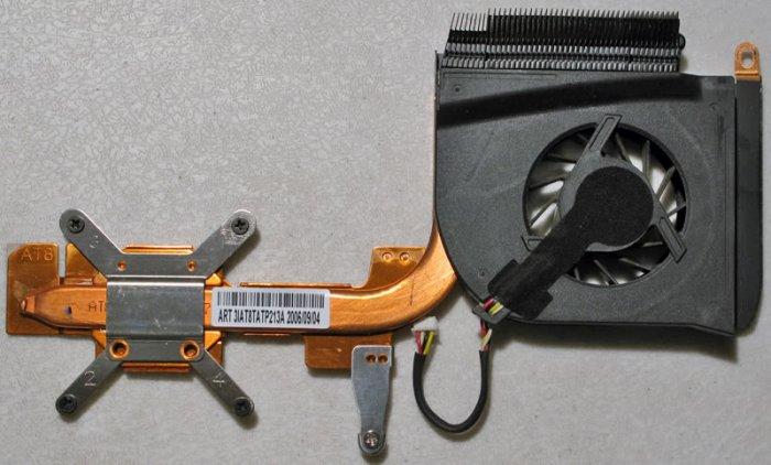 HP PAVILION DV6000 AMD CPU HEATSINK & COOLING FAN 431448-001