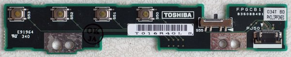TOSHIBA SATELLITE 1800 1805 AUDIO MEDIA BOARD FPGCB1