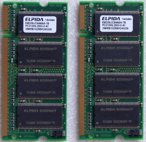 DELL INSPIRON 8500 8600 2200 5100 5150 512MB (2X 256MB) PC2100 LAPTOP RAM