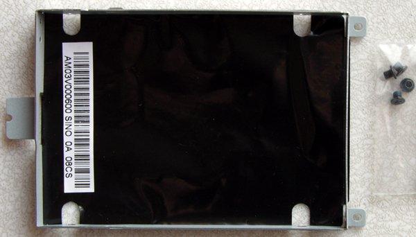 GENUINE OEM HP PAVILION DV4 1220US HD HARD DRIVE CADDY 498498-001 w/ SCREWS