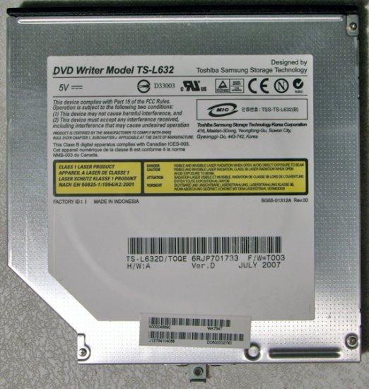 TOSHIBA SATELLITE A135 A130 DVD+/-RW CDRW DRIVE TS-L632 K000043890