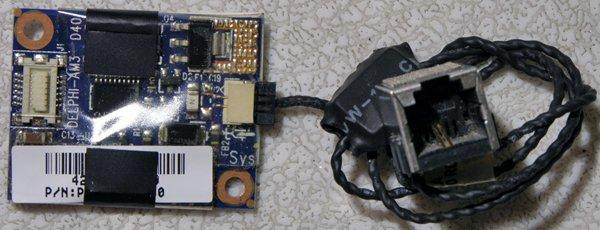 TOSHIBA SATELLITE A135 A130 PCI MODEM W/ CABLE & JACK PK010000000