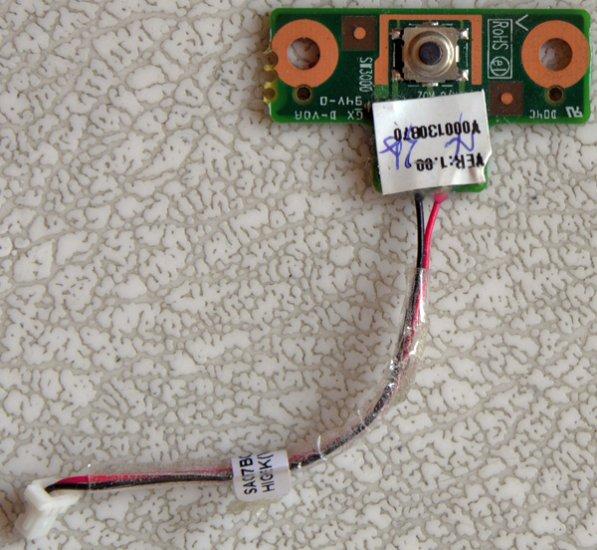 TOSHIBA SATELLITE L305 L305D POWER BUTTON SWITCH BOARD V000130870 w/ CABLE