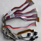 "LOT OF 6 APPLE MAC iBOOK G3 G4 12"" 14"" LCD CABLES HPU223010210U02"