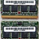 SONY VAIO VGN S150 S160 S170 S260 S270 S360P 512MB RAM MEMORY 2AMDM