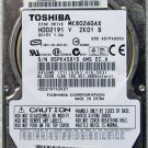 TOSHIBA SATELLITE P35-S609 80GB IDE LAPTOP HD HARD DRIVE MK8026GAX 2.5""