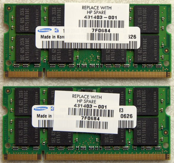 HP PAVILION DV2000 DV6000 DV9000 2GB LAPTOP RAM 431403-001