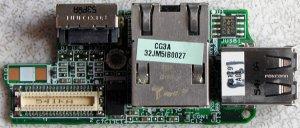 DELL LATITUDE D610 NIC USB / S VIDEO OUT BOARD DA0JM5LBAG3 Y4150
