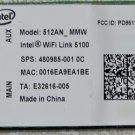 HP PAVILION INTEL DV4 DV5 DV6 DV7 PCI WIFI WIRELESS CARD 480985-001