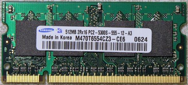 IBM THINKPAD LENOVO X60 T43 512MB PC2 5300S LAPTOP RAM 40Y8402
