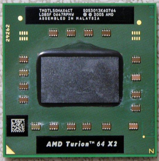 HP PAVILION DV6000 DV6700 DV2000 AMD TURION 64 x2 1.6GHz TMDTL50HAX4CT