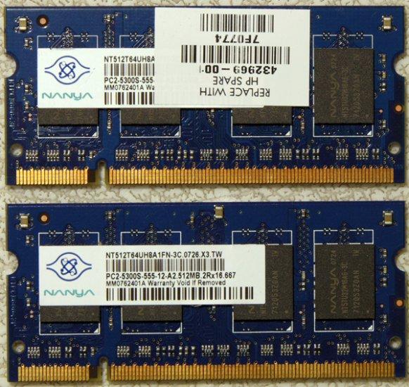 HP PAVILION DV2000 DV6000 DV9000 1GB LAPTOP RAM 432969-001