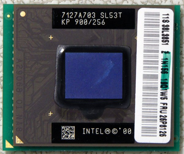 IBM THINKPAD T20 T21 INTEL PENTIUM III 3 MOBILE 900MHz CPU PROCESSOR SL53T 26P8126