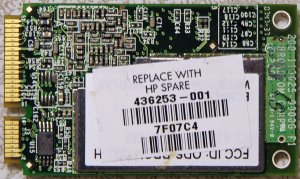 HP PAVILION TX1000 DV9000 MINI PCI WIFI CARD 436253 416371 WORKS