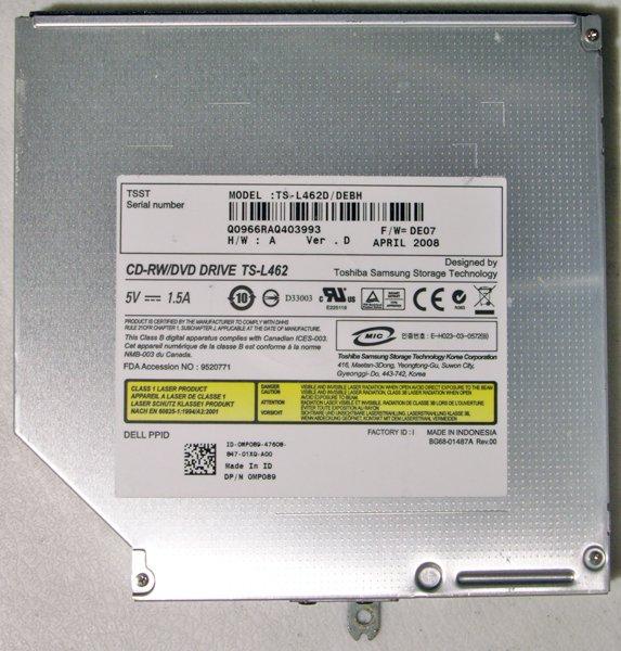 DELL INSPIRON 1525 1526 CDRW DVD DRIVE MP089 TS-L462D
