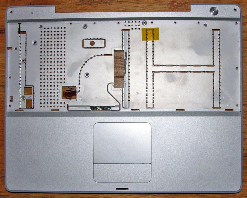 "APPLE MAC POWERBOOK G4 12"" 1.5GHz PALMREST TOUCHPAD POWER SWITCH A1104"