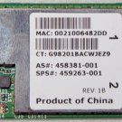 HP PAVILION DV4 DV5 DV6 DV7 PCI WIFI WIRELESS CARD 459263 458381