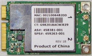 HP PAVILION DV4 DV5 DV6 DV7 PCI WIFI WIRELESS CARD 459263 458381