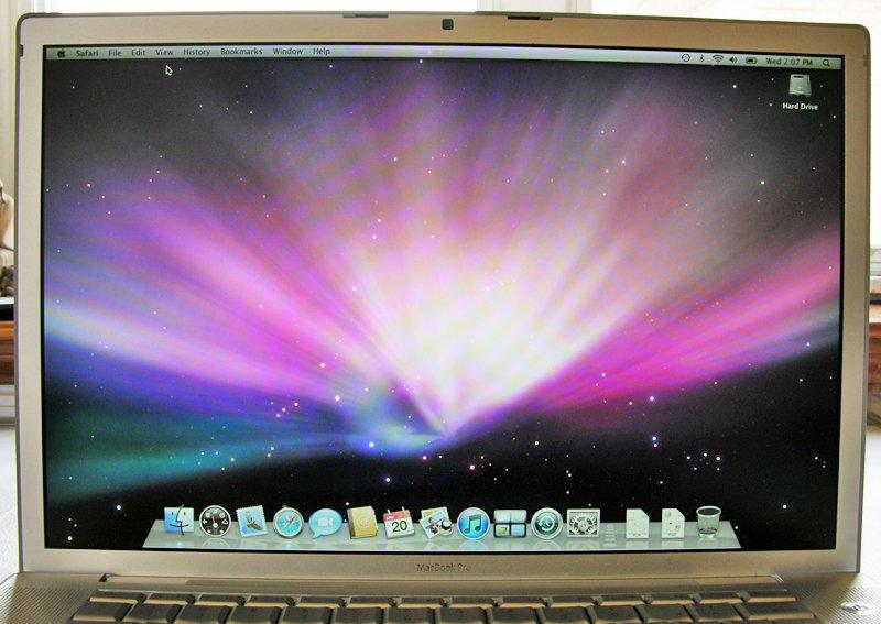 "GENUINE OEM APPLE MAC MACBOOK PRO 15"" CORE 2 DUO LCD SCREEN ASSEMBLY"