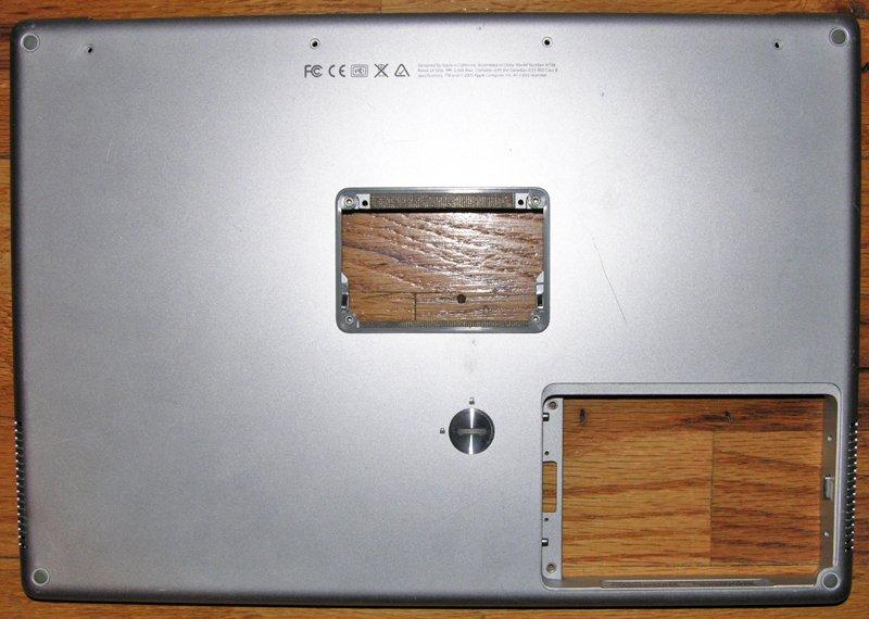 """MAC POWERBOOK G4 15.4"""" 1.67GHz BOTTOM CASE 620-3279-01"""