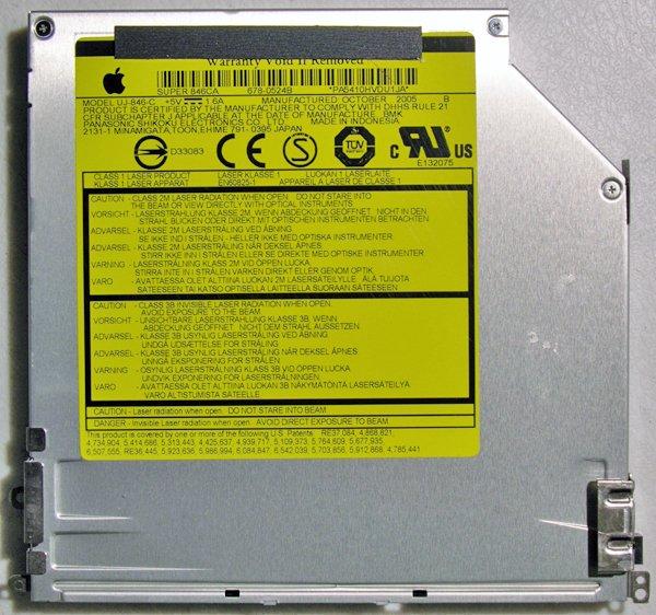 """MAC POWERBOOK G4 15"""" AL DVD±RW SUPER DRIVE DL UJ-846-C"""