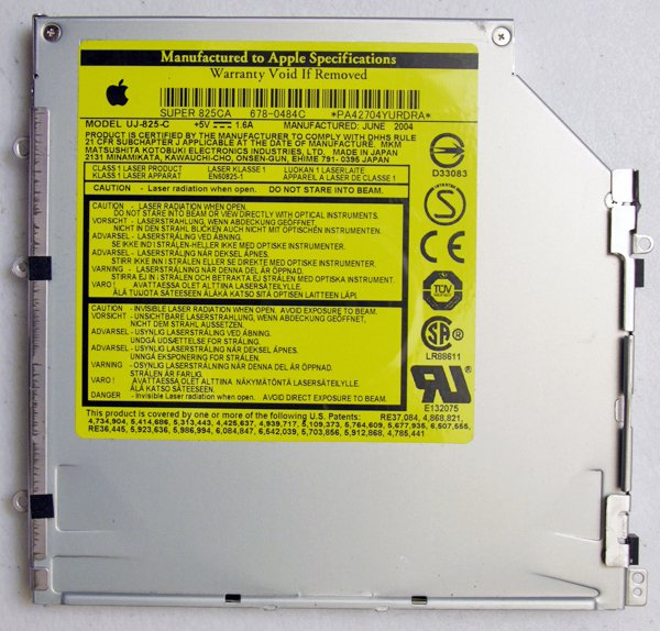 "GENUINE APPLE MAC POWERBOOK G4 15"" DVD±RW SUPER DRIVE SUPER 825CA 678-0484C  UJ-825-C"