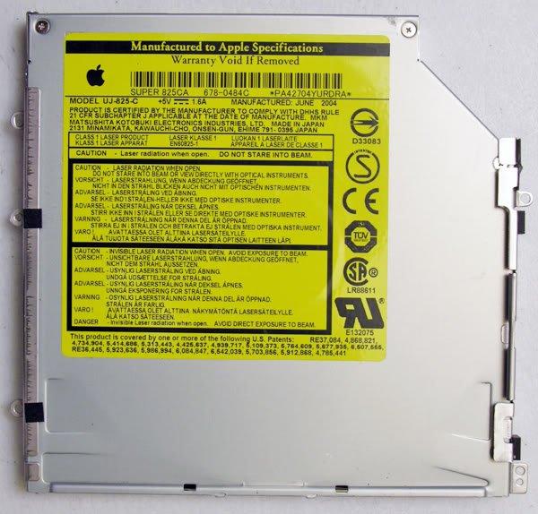 "APPLE MAC POWERBOOK G4 15"" DVD±RW SUPER DRIVE SUPER 825CA 678-0484C  UJ-825-C"