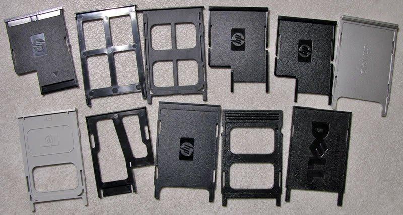 A LOT OF 18 OEM DELL HP COMPAQ PC PCMCIA SLOT FILLERS