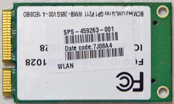 HP DV4 DV5 DV6 DV7 PCI WIFI WIRELESS CARD 459263 458381