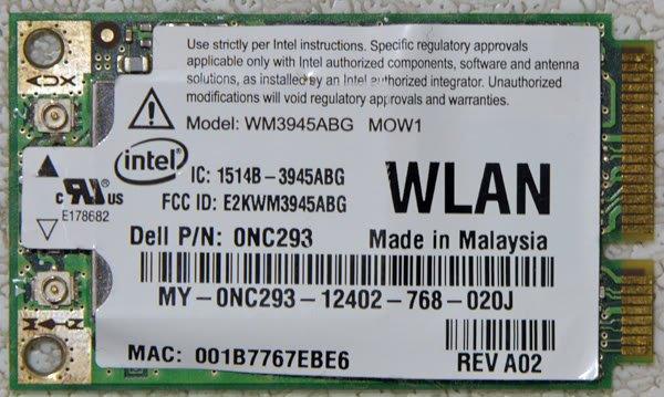 DELL 1501 E1505 D620 D630 PCI WIFI WIRELESS CARD NC293