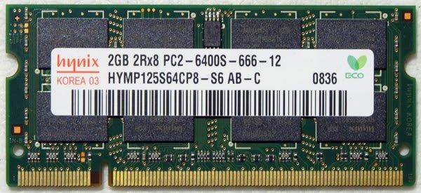 OEM HYNIX HP DV4 2GB RAM PC2-6400S 482169 HYMP125S64CP8