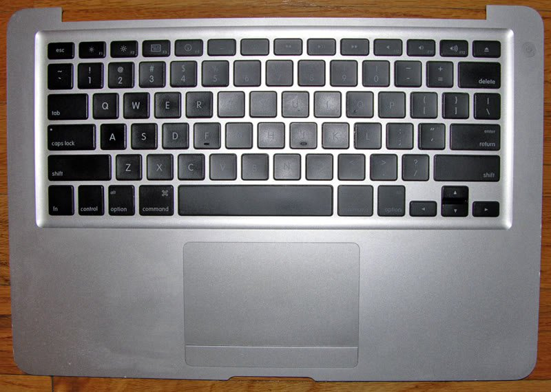 GENUINE OEM APPLE MACBOOK AIR A1237 KEYBOARD TOUCHPAD PALMREST ASSY 607-1805 US