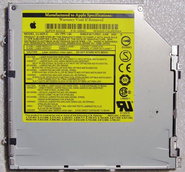 """MAC POWERBOOK G4 15"""" AL DVD±RW SD SUPER DRIVE UJ-825-C"""