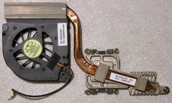 GATEWAY P-78 HEATSINK & FAN 23.10214.001 / 60.4I202.001