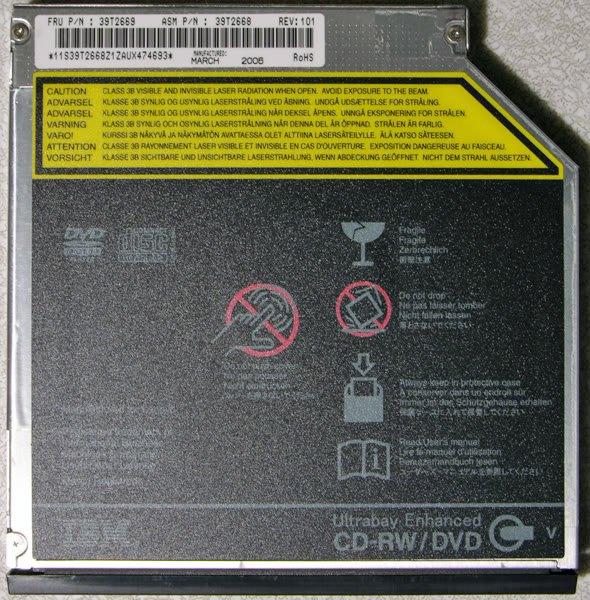 OEM IBM THINKPAD T60 T60P T61 R60 R61 DVD CDRW 39T2669