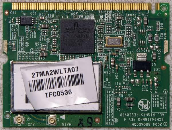 GATEWAY MX8000 MA2 MA3 WiFi WIRELESS CARD 7MA2WLTA07
