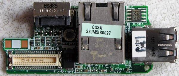 DELL D610 NIC USB / S VIDEO OUT BOARD DA0JM5LBAG3 Y4150
