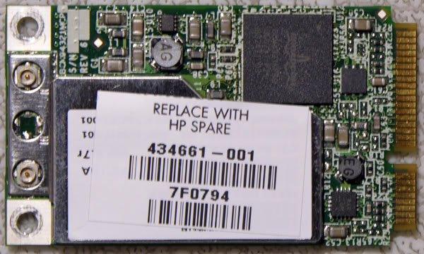 HP DV2000 DV6000 DV9000 MINI PCI WIFI CARD 434661-001