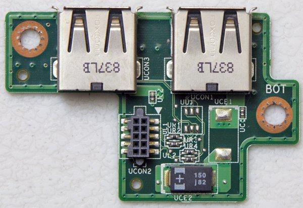 DELL INSPIRON 1420 VOSTRO 1400 DUEL USB BOARD 08G20EA0500GDE ELSA USB BOARD