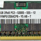 HYNIX HP PAVILION DV2000 DV6000 DV9000 1GB LAPTOP RAM 452062-001 HYMP512S64CP8