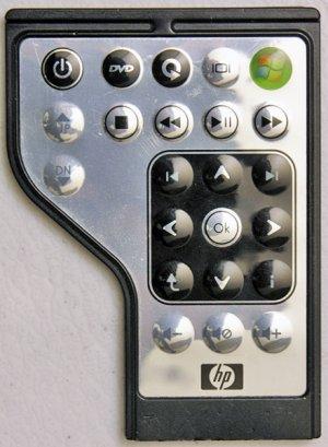 HP PAVILION DV4 DV5 DV6 DV7 DV2000 DV6000 DV9000 MEDIA REMOTE CONTROL 464793-001