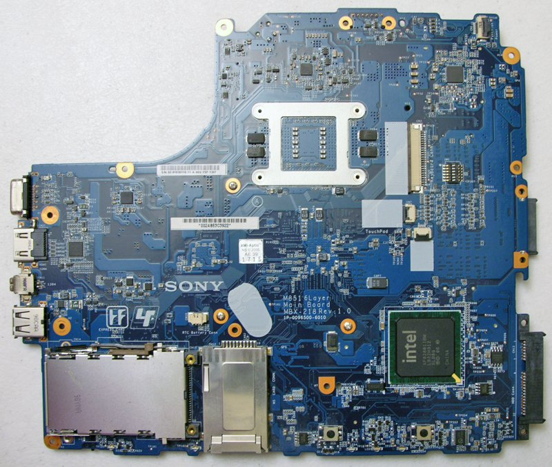 SONY VAIO VGN-NW270F NW SERIES INTEL MOTHERBOARD M851 MBX-218 1P-0096500-6010