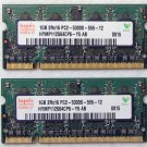 HYNIX OEM APPLE MACBOOK PRO 13&quot; 15&quot; 17&quot; 2GB (2x1GB) RAM PC2-5300S HYMP112S64CP6