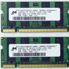 HP PAVILION DV4 1000 DV4 2000 4GB (2X2GB) RAM PC2-6400S-666-12 MT16HTF25664HY