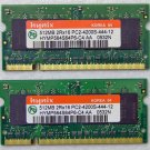 DELL INSPIRON 1505 E1705 1GB (2X512MB) PC2-4200S HYNIX HYMP564S64P6 RAM MEMORY