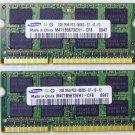 OEM SAMSUNG DELL INSPIRON 1545 4GB PC3-8500S (2X2BG) RAM / MEMORY M471B5674EH1