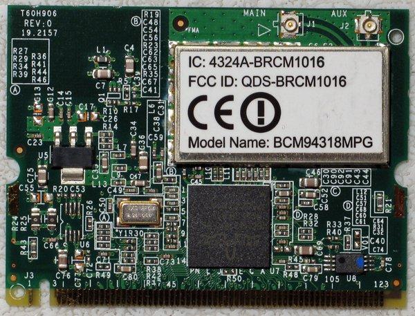 ACER ASPIRE 5000 4060 3000 3500 PCI WIFI WIRELESS CARD T60H906