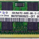 GENUINE OEM HP G60 COMPAQ CQ60 2GB 2Rx8 PC2-6400S RAM M470T5663QZ3 485032-001