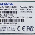 OEM SONY VAIO SVT13124CXS ADATA 32GB PCI-E MINI SATA SSD DRIVE AXM13S2-32GM-B