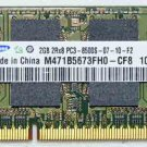 TOSHIBA L505 L505D 2GB DDR3 RAM MEMORY PC3-8500S SAMSUNG M471B5673FH0 P000527780